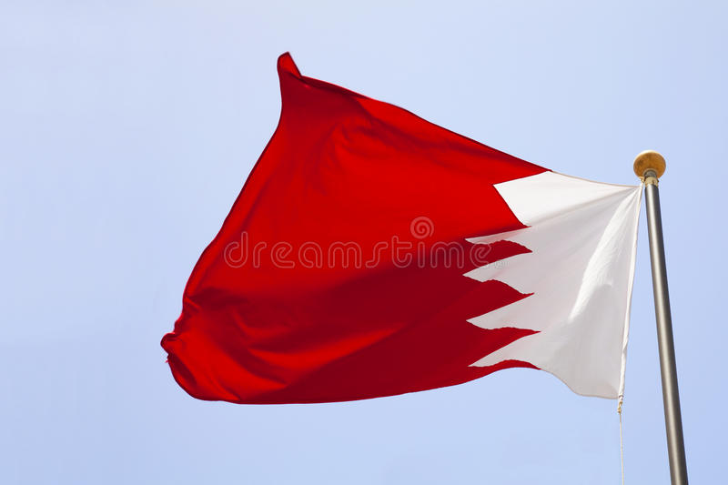 Download Bahrain Flag stock photo. Image of high, flagpost, middle - 14579008
