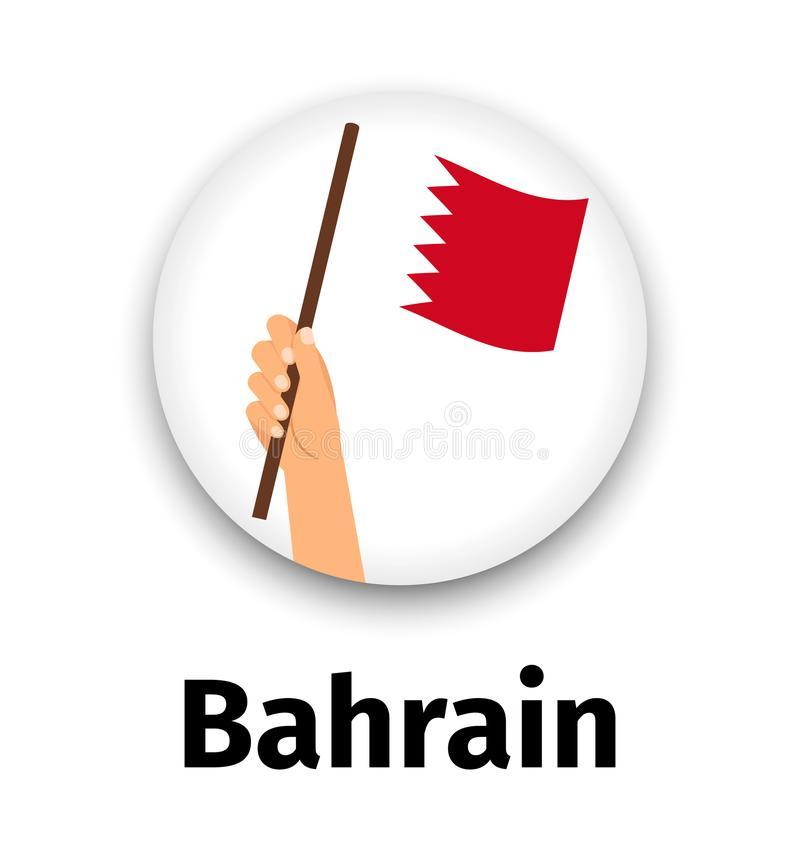 Download Bahrain Flag In Hand Round Icon Stock Vector