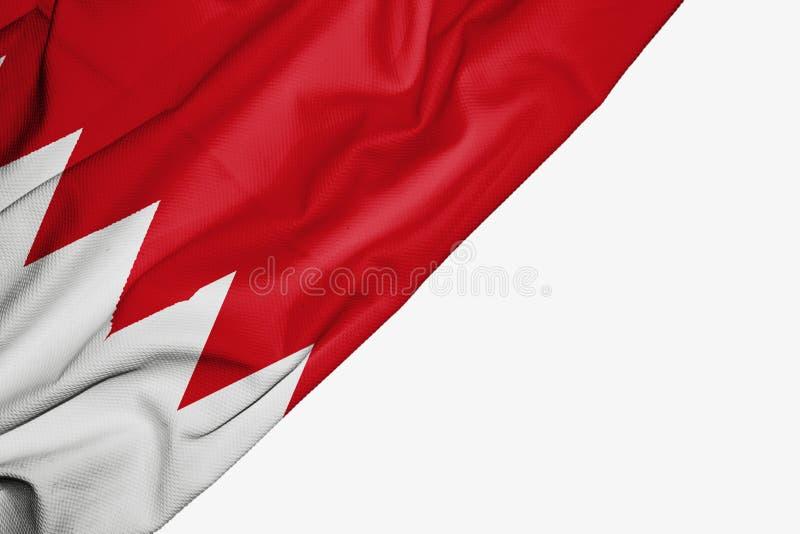 Bahrain flagga av tyg med copyspace f?r din text p? vit bakgrund vektor illustrationer