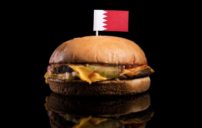 Download Bahrain-Flagge Auf Den Hamburger Lokalisiert Auf Schwarzem Stockbild - Bild von burger, industrie: 96933557