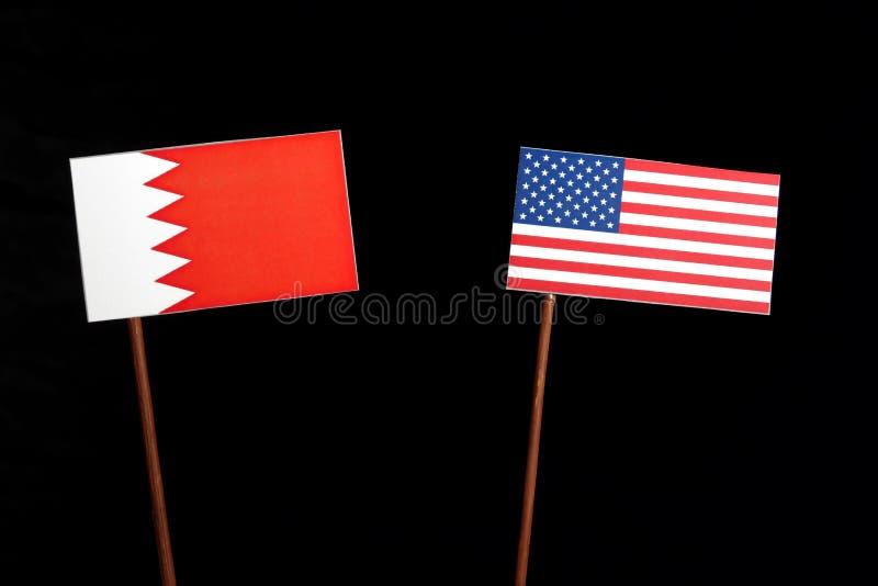 Download Bahrain-Flagge Mit USA-Flagge Lokalisiert Auf Schwarzem Stockbild - Bild von teilhaberschaft, leerzeichen: 96933715