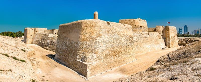 Bahrain fort- eller Qal ` på al-Bahrain En plats för UNESCO-världsarv arkivfoto