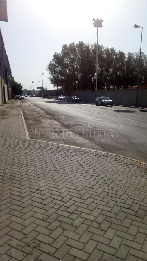 Bahrain industrial  Area roads royalty free stock image