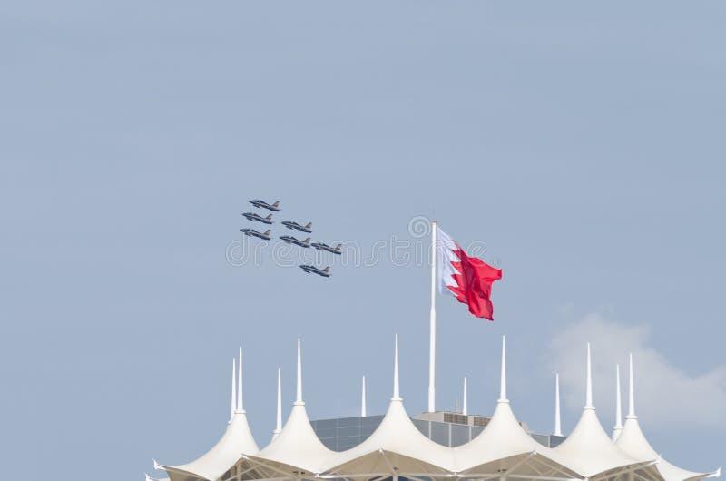 Bahrain international air show 2012 royalty free stock photos