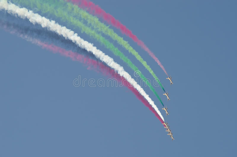 Bahrain international air show 2012 royalty free stock photo