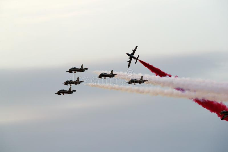 Bahrain internationales Airshow 2018 stockbild