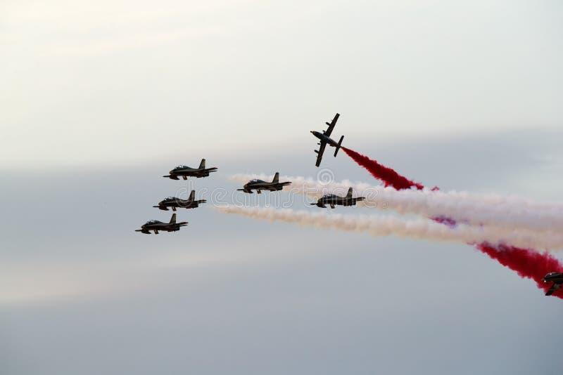 Bahrain internationella Airshow 2018 fotografering för bildbyråer