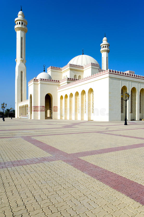 Bahrain. Manama, the Al Fateh Mosque, also know as Great Mosque royalty free stock photos