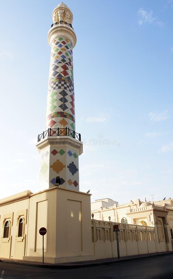 bahrain manama minaretmoské royaltyfri fotografi