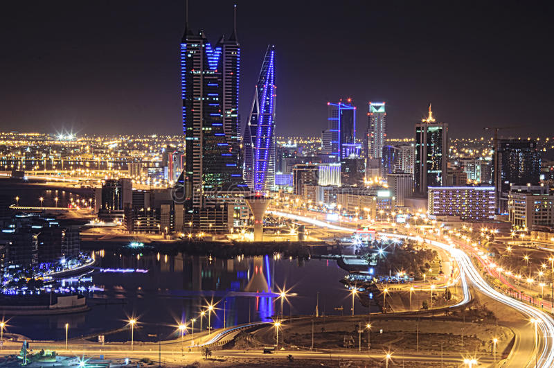 Bahrain-Skyline lizenzfreies stockbild