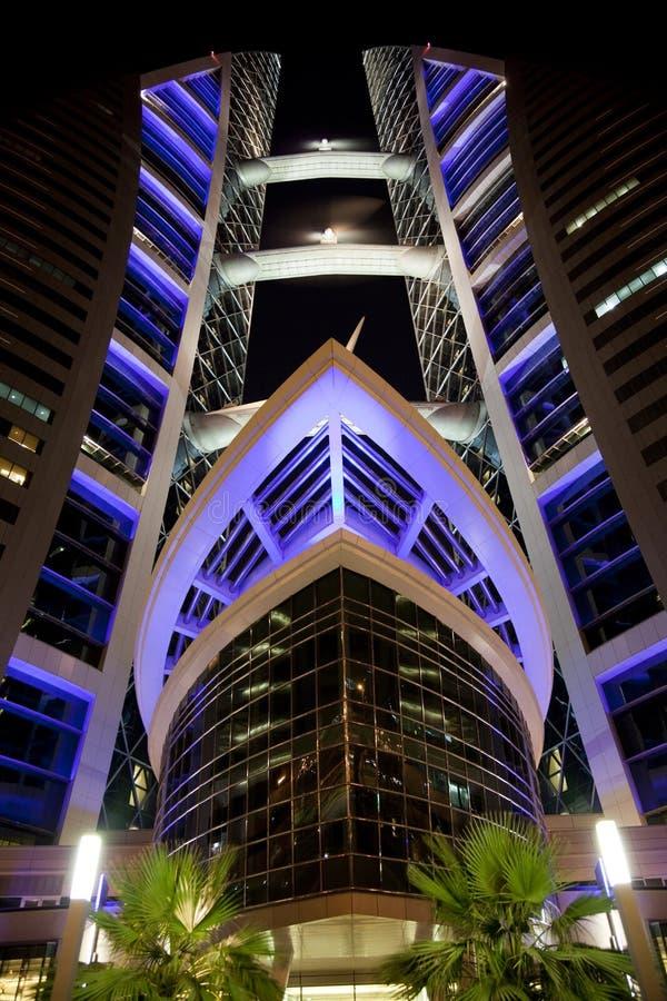 Bahrain World Trade Center at Night, Bahrain