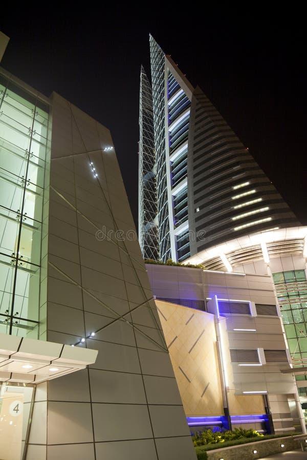 Download Bahrain World Trade Center At Night, Bahrain Stock Photo - Image: 14582662
