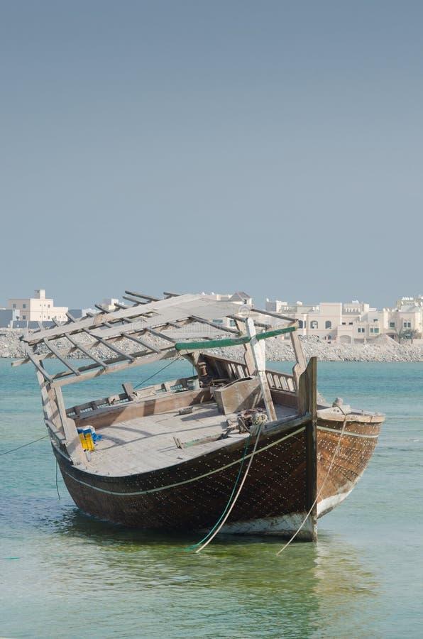 Bahraini old fishing boat stock image