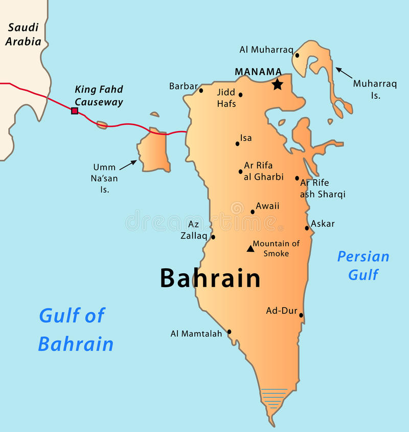 Bahrainmap lizenzfreie abbildung