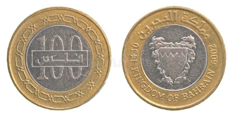 100 bahrajnów dinaru moneta zdjęcia stock