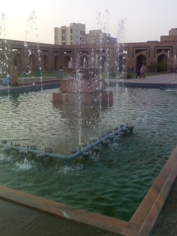 Bahria moskéspringbrunn fotografering för bildbyråer