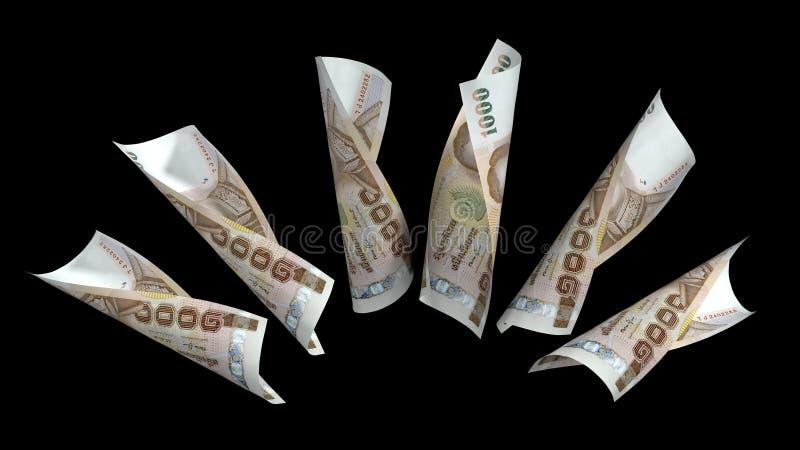 Baht Thailand-Währungs-1000 vektor abbildung