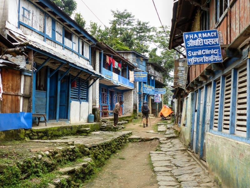 Bahundanda village in Nepal royalty free stock photos