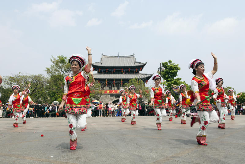 Bai Chinese Dancers stock image