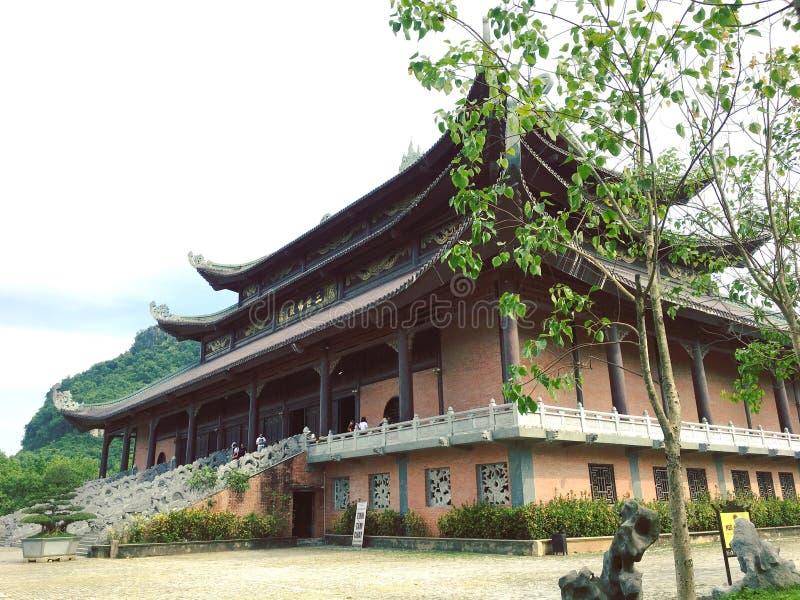 Bai Dinh Pagoda, Vietname fotos de stock royalty free