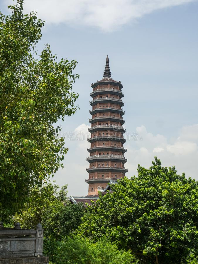 Bai Dinh-toren royalty-vrije stock foto's