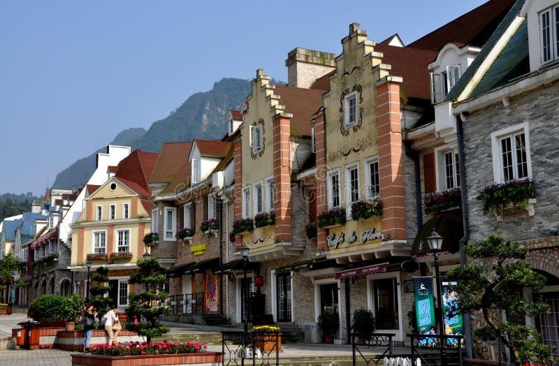 Bai Lu, Kina: Stora Ruebyggnader för La royaltyfria bilder