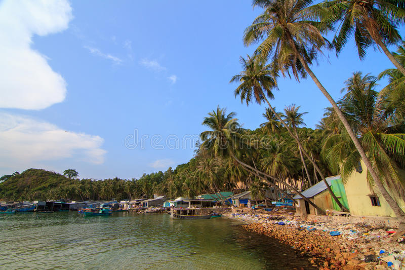 Bai Men (Men Beach), Nam Du islands, Kien Giang province, Vietnam. Nam Du islands located 90 km west of Rach Gia city in. Kien Giang. Nam Du islands has become royalty free stock photography