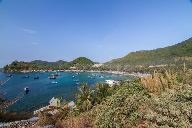 Bai Men (Mensenstrand), Nam Du-eilanden, Kien Giang-provincie, Vietna royalty-vrije stock foto's