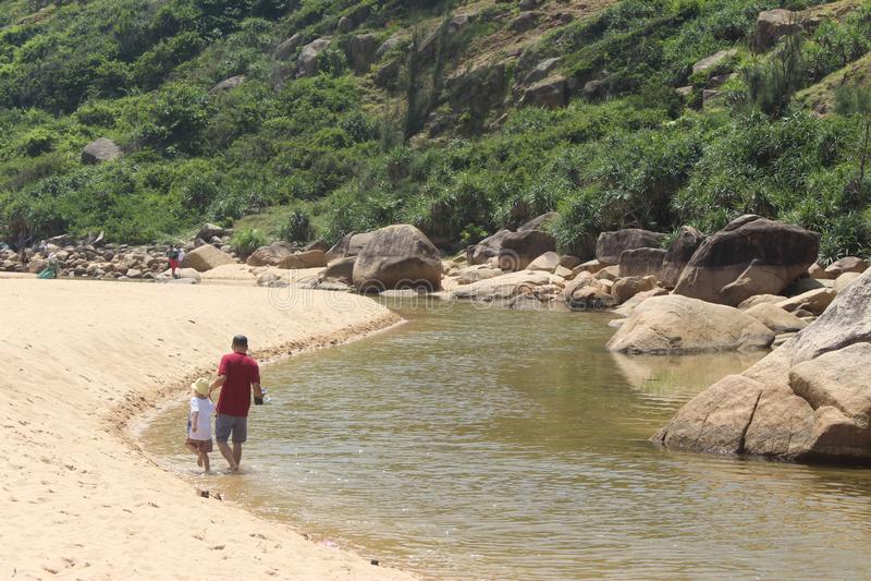 Bai Mon Beach, Phu Yen, Vietnam fotografia stock libera da diritti