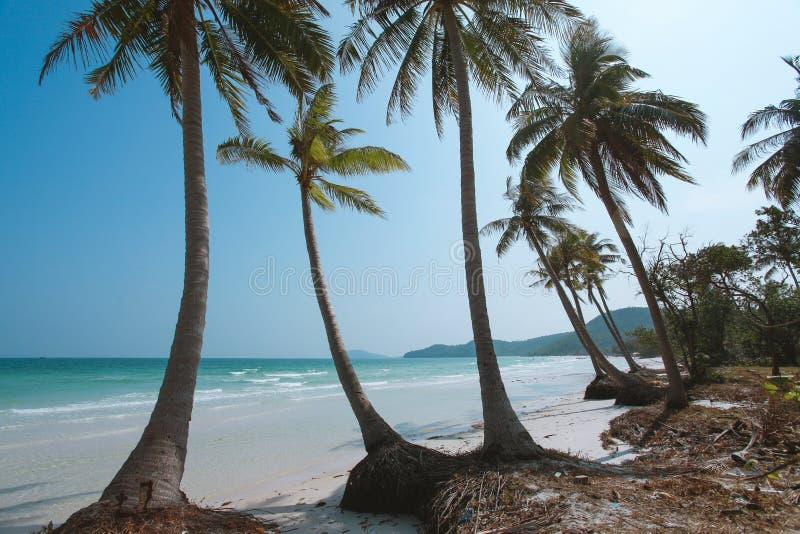 Bai Sao Beach på den Phu Quoc ön, Vietnam arkivbilder