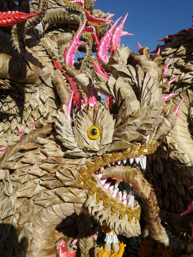 Bai Si King asciutta del Naga nella cultura di nordest di tradizione di celebrazione della Tailandia immagini stock