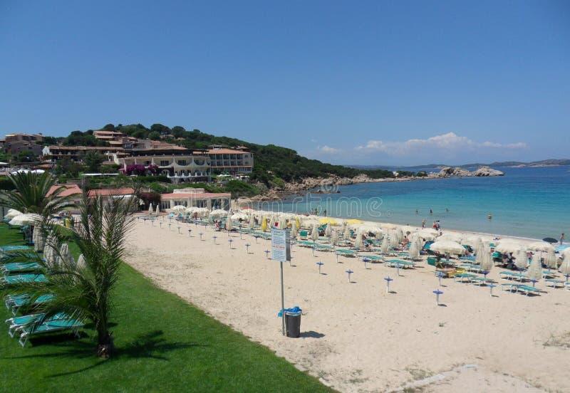 Baia Сардиния - пляж стоковое фото