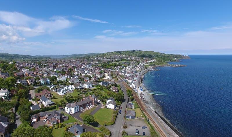 Baia Antrim Irlanda del Nord di Whitehead immagine stock libera da diritti