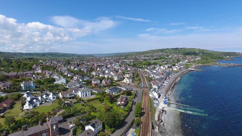 Baia Antrim Irlanda del Nord di Whitehead fotografie stock