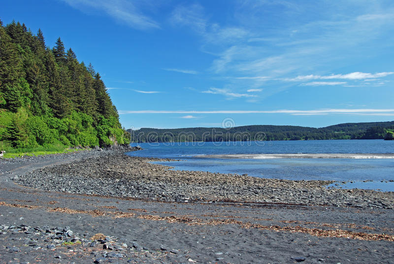 Baia calma nell'Alaska fotografia stock libera da diritti