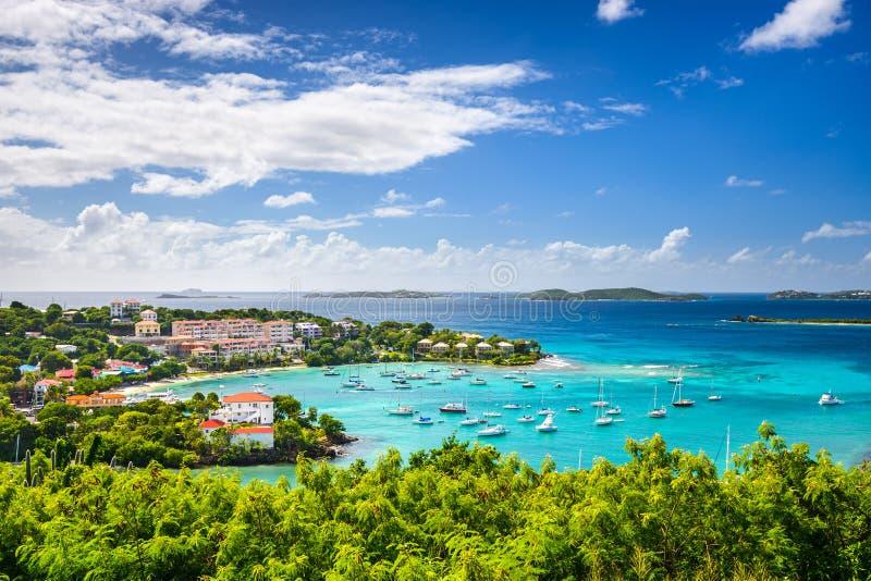 Baia caraibica fotografia stock libera da diritti