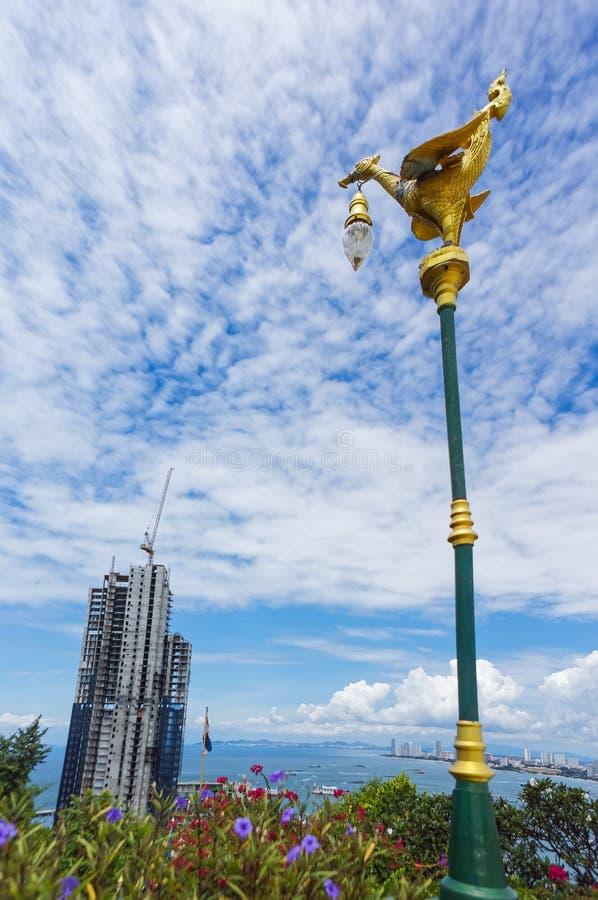 Baia in costruzione di costruzione di Pattaya fotografia stock