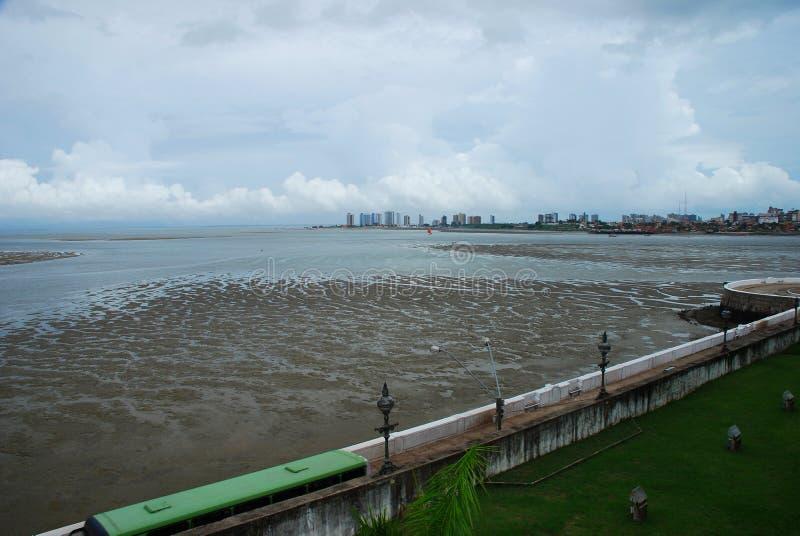 Baia DE Sao Marcos Sao Luis Maranhao, Brazilië stock foto