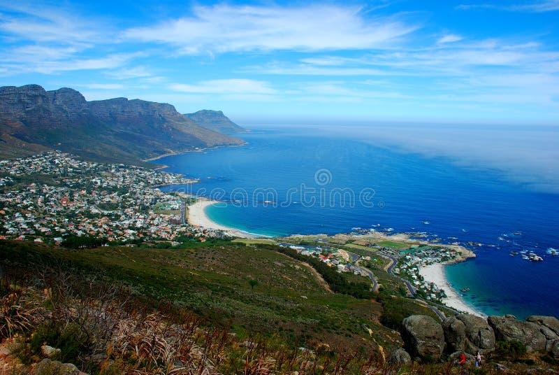 Baia degli accampamenti a Città del Capo fotografie stock