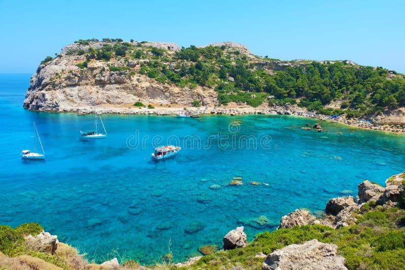 Baia del Anthony Quinn Rodi, Grecia immagine stock