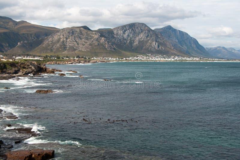 Baia del camminatore, Hermanus, Sudafrica fotografia stock libera da diritti