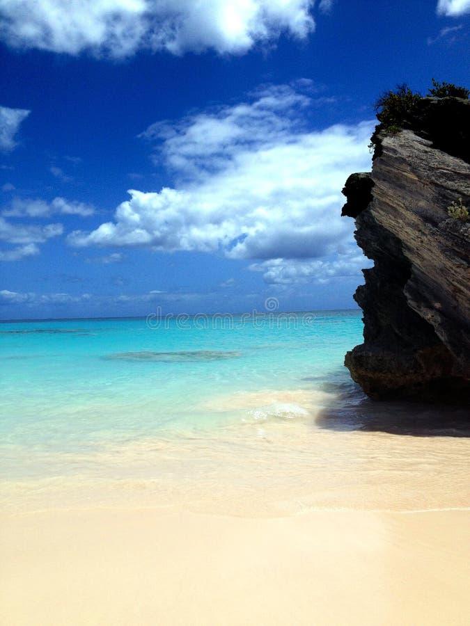 Baia del ferro di cavallo delle Bermude fotografia stock libera da diritti