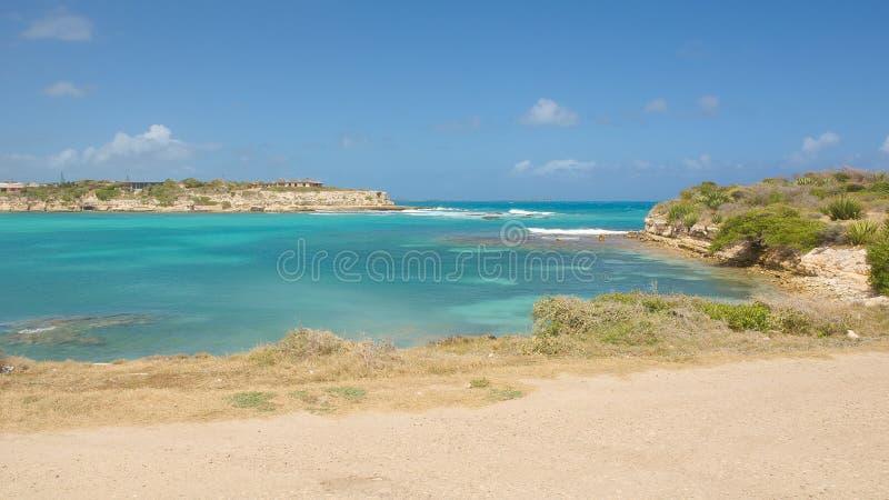 Baia del ponte del ` s del diavolo - Antigua e Barbuda marino caraibico immagini stock