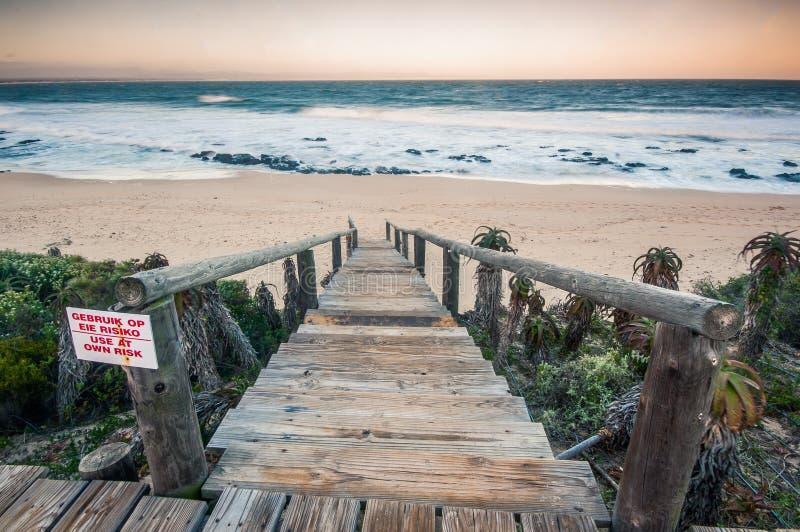 Baia del ` s di Jeffrey, capo orientale, Sudafrica fotografie stock