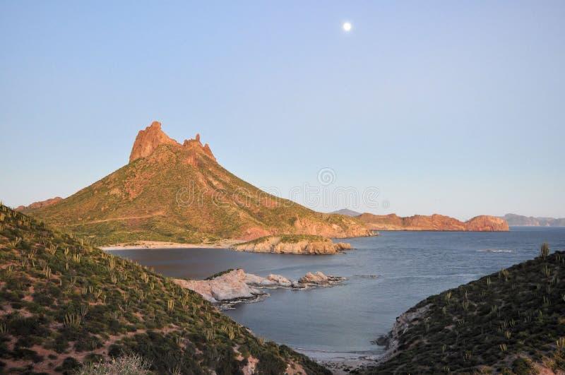 Baia del San Carlos, Sonora Messico fotografie stock libere da diritti