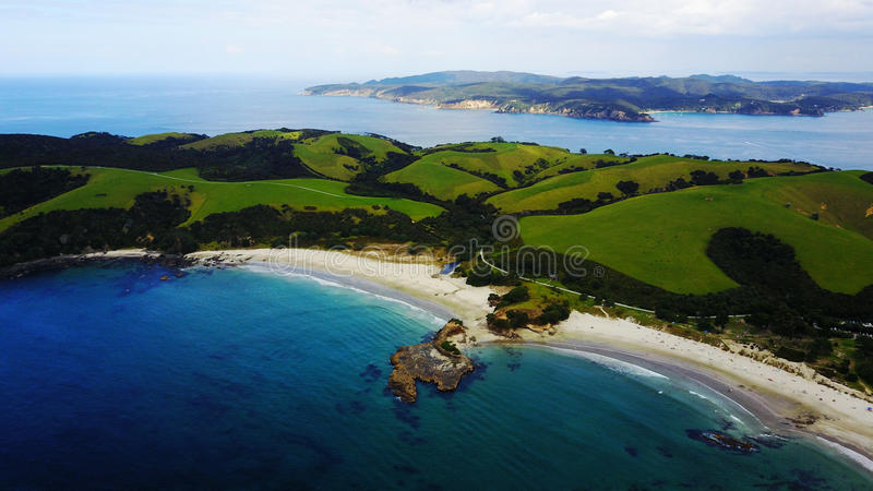 Baia dell'ancora in Nuova Zelanda immagini stock