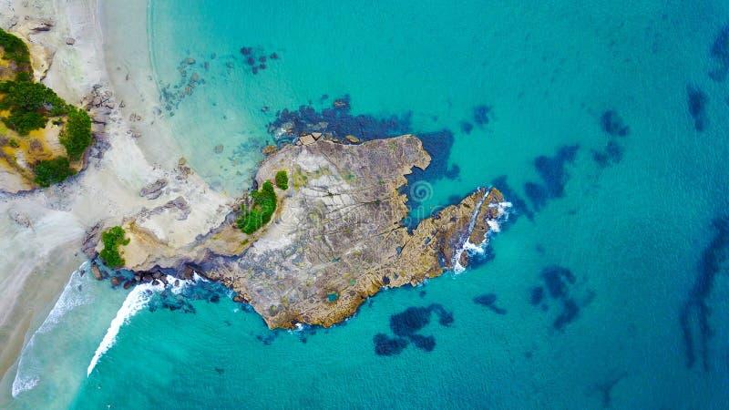 Baia dell'ancora in Nuova Zelanda fotografia stock libera da diritti