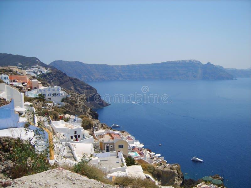 Baia dell'isola di Santorini La Grecia fotografia stock