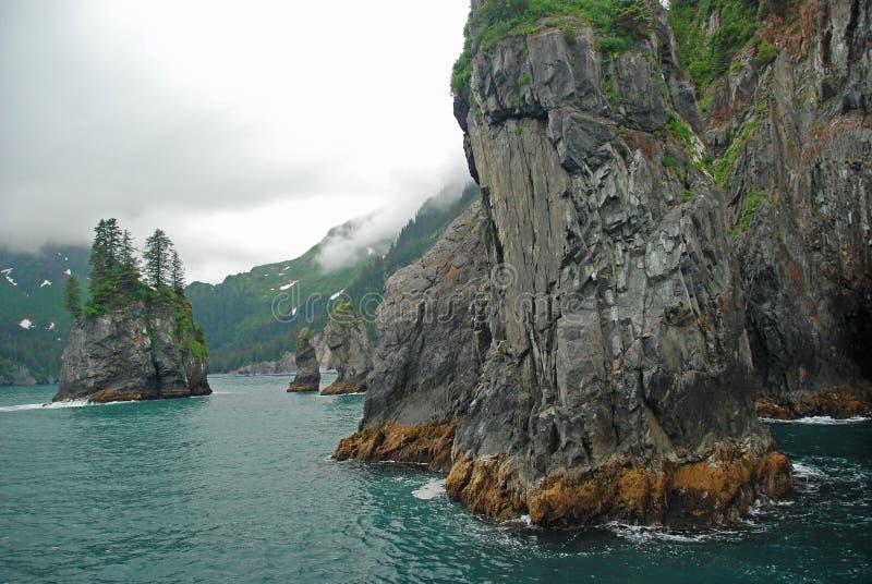 Baia dell'istrice nell'Alaska fotografie stock
