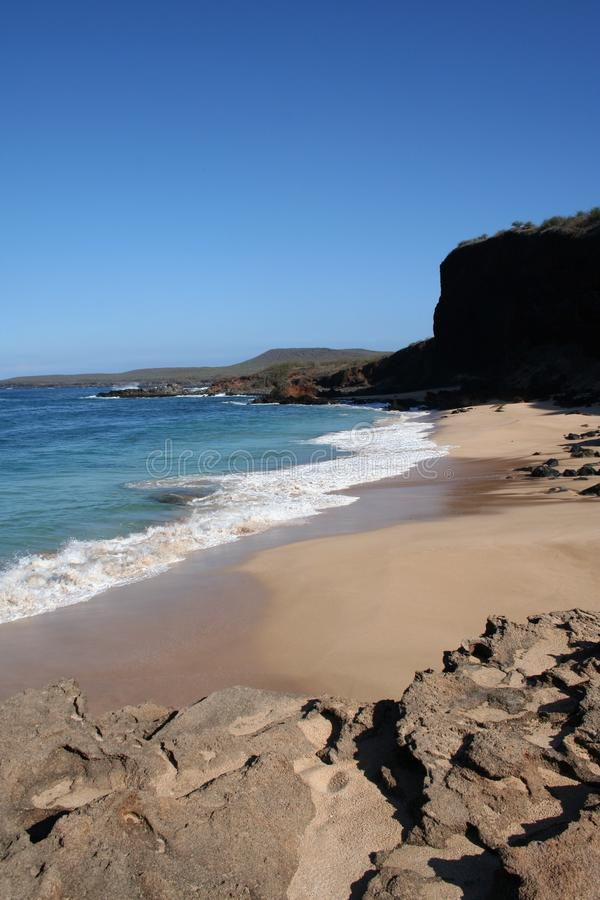 Baia della spiaggia della Molocai Hawai fotografia stock libera da diritti